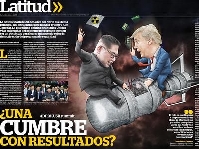 A summit with results? politics editorial illustration art