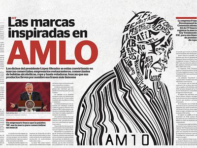 Brands inspired by AMLO editorial concept design vector illustration illustration art