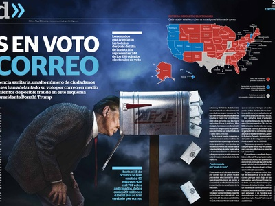Questions about voting by mail editorial illustration art
