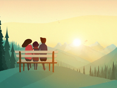 The family  graphics motion health mental illustration break heart design cause canada campaign awareness