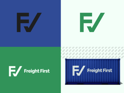 Freight First - Logo Design and a mockup transportation mockup rebrand graphic design branding logo design logo minimal illustrator illustration design freight