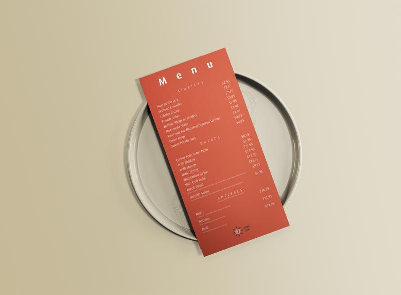 Sushi Zen - Menu Mockup menu restaurant logo sushi logo sushi sushi zen menu mockup restaurant vector graphic design branding mockup logo design logo minimal illustrator illustration design