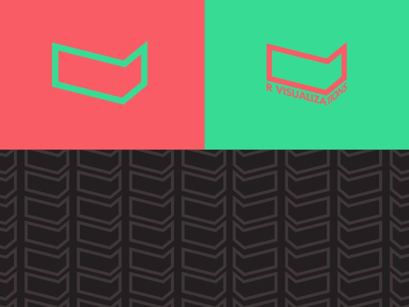 R Visualizations - Logo Design vr logo vr vector graphic design branding logo logo design minimal illustrator illustration design