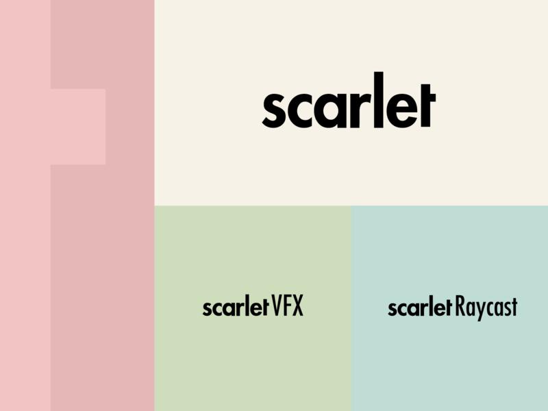 Scarlet - Logo Design raycast vfx scarlet type logo typographic logo type based logo typography vector rebrand graphic design branding logo design illustrator logo minimal design