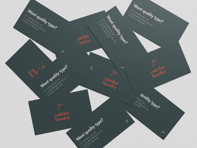 Radnika Foundry - Business Card Mockup card mockup business card mockups business card design ideas business card mockup business card design business card mockup rebrand illustration graphic design branding logo design illustrator logo minimal design