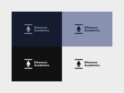 Ethereum Academics - Logo Design ethereum academics logo blockchain logo blockchain ethereum logo ethereum iconic vector rebrand illustration graphic design branding logo design illustrator logo minimal design