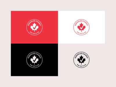 Authentically Canadian - Logo Design canadian products logo canadian product canadian canadian logo canada logo canada vector rebrand illustration graphic design branding logo design illustrator logo minimal design