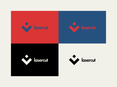LaserCut - Logo Design waterjet lasercut logo lasercut laser vector rebrand illustration graphic design branding logo design illustrator logo minimal design