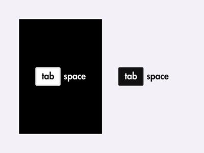 Tab Space - Logo Design software engineer development software debugging tabspace logo tabspace tabs vector rebrand illustration graphic design branding logo design illustrator logo minimal design