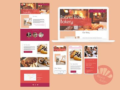 Bakery Landing Page webdesign website landing page ui landing page design landing design landing page mockup ui design branding website design web development front-end development web design mockup design