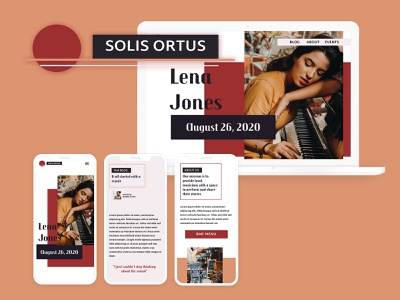 Solis Ortus branding ux ui design web development website design mockup front-end development web design ui design