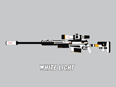 White Light minimal vector illustration flat design