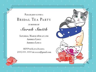Teacat teacup illustration cat