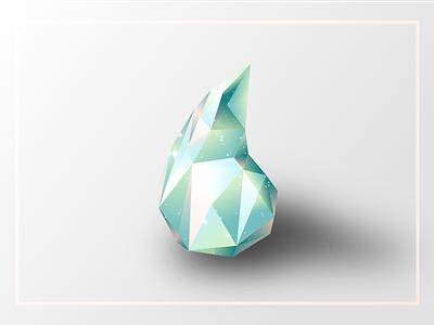 Crystal Drop  poly cosmos gradients triangles sketch 3d crystal