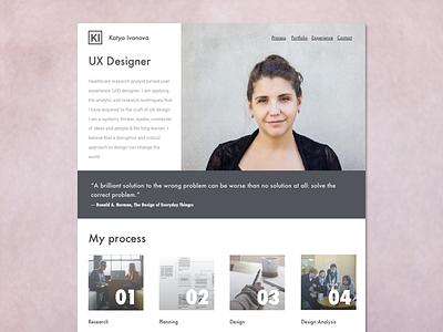 UX portfolio - draft  design web design portfolio ux
