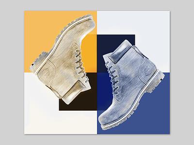 Shoe brand tag  elegant plaid branding shoes