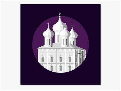 Pskov sketch russian churches pskov