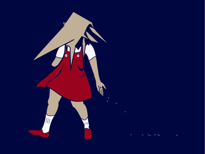 Goathead Fairy sketch illustration