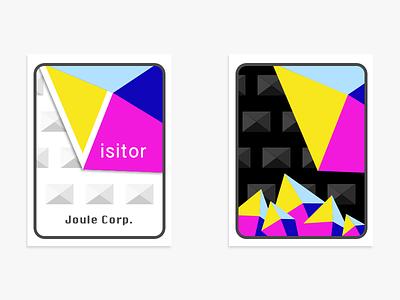 Visitor Badges typography gems badge