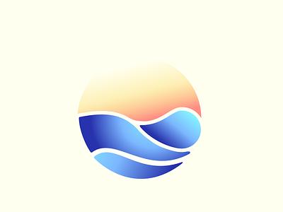 Sunrise spa logo logo massage spa vector branding illustration sketch