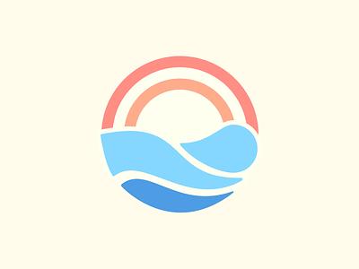 Sunrise spa branding massage spa logo vector branding illustration sketch