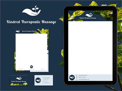 Massage branding kit logo digital branding