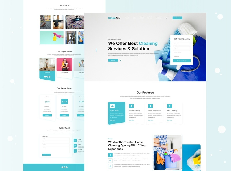 Cleaning  Agency Landing Page trendy 2020 trends 2020 design 2020 trend 2020 clean cleaning agency cleaning logo cleaning company cleaning service digital agency marketing agency colorful dribbble digital agency design creative design creative agency dribbble best shop landing page agency