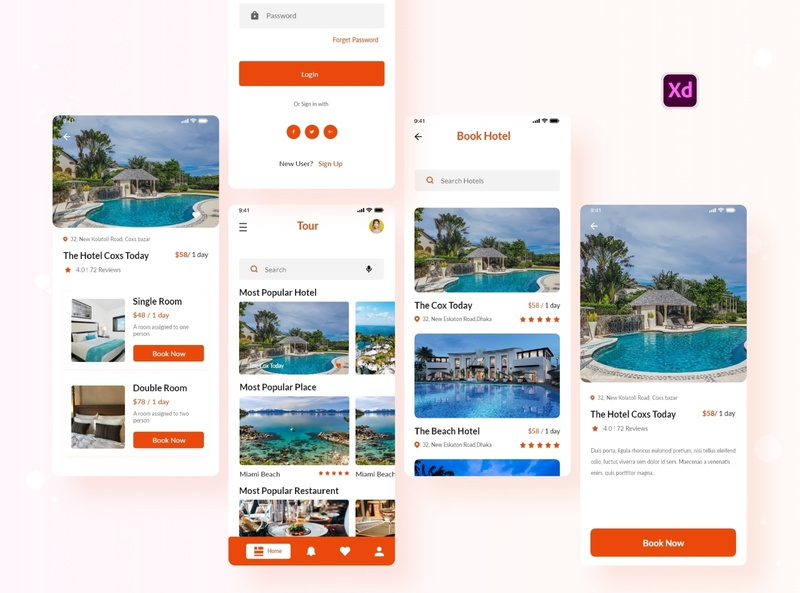Hotel Booking App Design digital agency design dribbble best shop creative agency apple clean design xd creative app booking app hotel app 2020 trendy app app trendy 2020 design 2020 trends 2020 trend 2020
