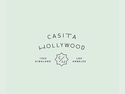 Casita Hollywood brand stacked logo logomark hollywood casita event venue logo branding