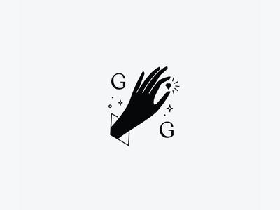 Gem brand stacked logo logo mark illustrated jewel diamond hand illustration logo branding