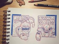 Captain Commando Sketches