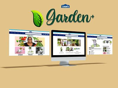 Lowe's Garden+ UX/UI Design logo branding design ui ux