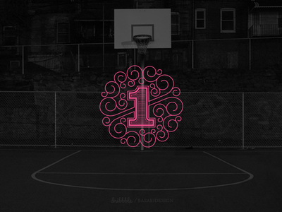 First Shot first shot first shot one play drafted custom lettering street ball court berlin germany dribbble