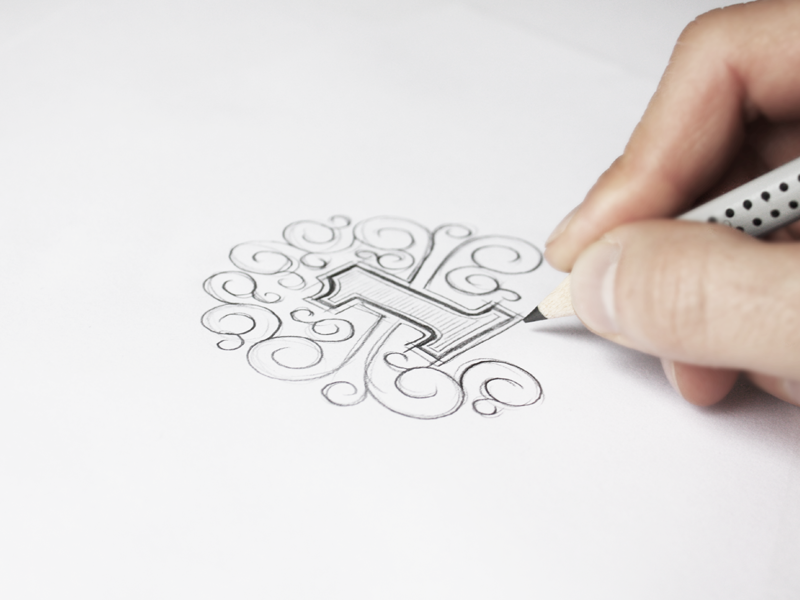First Shot - Sketching dribbble first shot logo lettering hand made one pencil sketch sketching making of vector behance