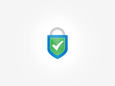 Secure Payment - Logo check lock shield secured security checkout corporate design logodesign logo branding brand safe