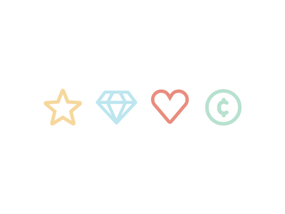 Stroke Icons website features special dating line stroke icons icon coin heart diamond star