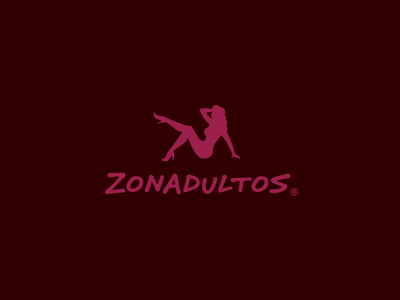 Zonadultos - Logo woman website corporate design behance branding brand amor sex love flirt dating adult