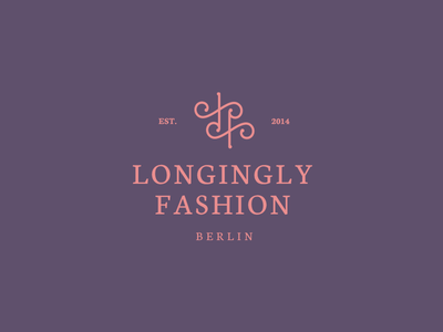 Longingly Fashion - Logo fashion designer berlin logo design apparel luxury high class mode moda basaridesign lf monogram