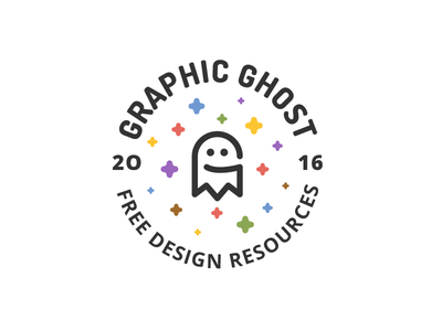 Graphic Ghost - Logo Badge cd blog templates graphics resources design free monogram brand logo badge graphicghost