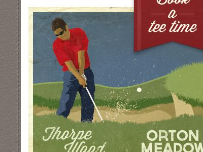 Golf Course Website web illustration