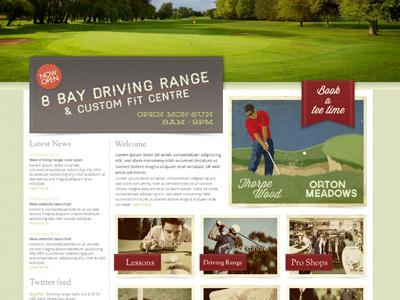 Golf course website web design