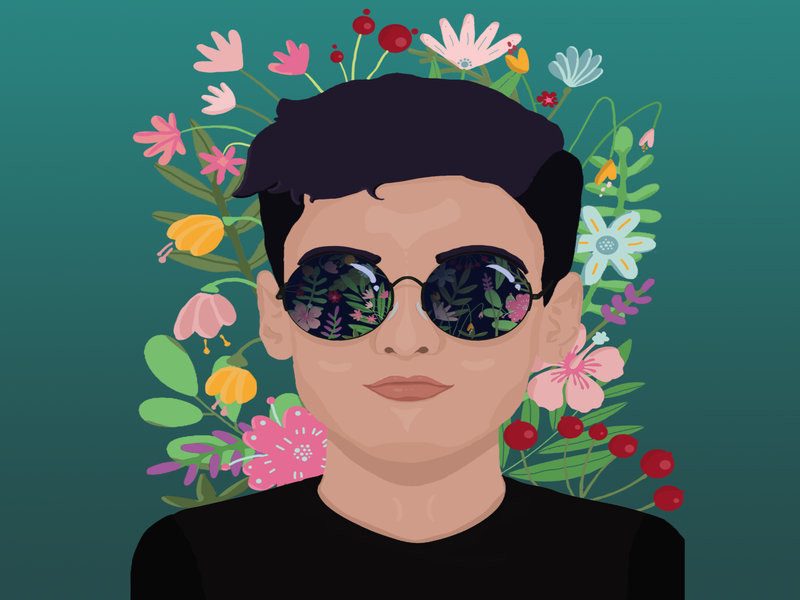 Flower Boy photoshop colorful illustration graphicart digitalart