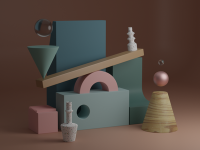 Geometry type of sh_t #01 cycles blendercycles art geometric modelling pattern abstract 3dblender blender 3d motion graphics motion design
