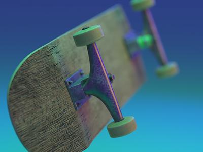 0005- Keep Pushing Series - 0002 blender animation grunge skateboard motion design design motion graphics