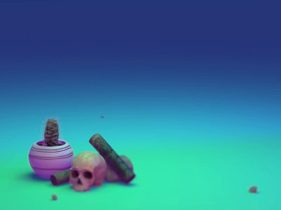 0005 - Keep Pushing Series - Animation 0001 eevee blender3d graphic design design skull grunge skateboard motion design motion graphics animation