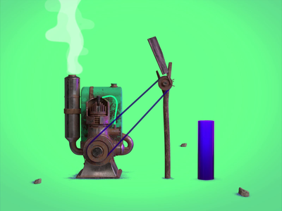 0021 - Chirofinfula - Scene 01.01 - Motor   Sneak peek texture motion graphics blender3d motion 3d animation grunge colourful machine