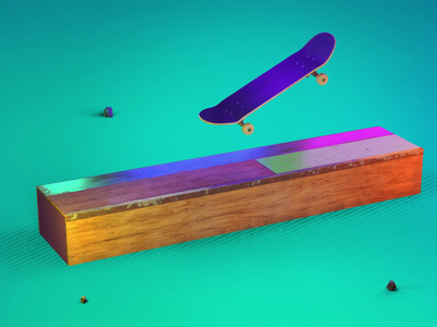 0005 - Keep Pushing Series - Animation 0002 quirky render cycles 3danimation 3d blender skateboard motion design animation motion graphics