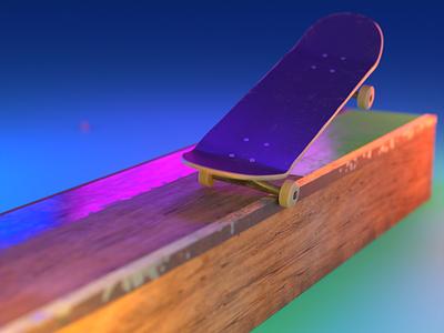 0005 - Keep Pushing Series - 0004 skateboading 3dillustration cycles blender 3d skateboard illustration motion design motion graphics