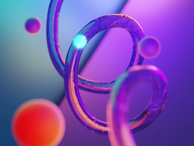 0013 - Tube & Lights - 0004 - Moving abstract 3danimation 3d design motion design motion graphics animation