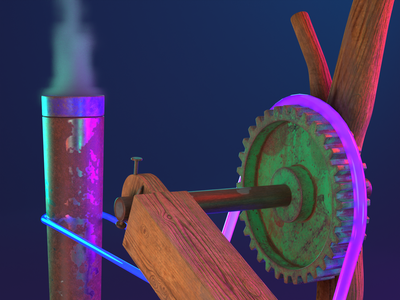 0005 - Push Machine - 0001 - Street Rules Close up 03 cycles blender 3dillustration 3d illustration skateboard motion design animation motion graphics